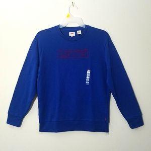Levi's Men's Sweatshirt Pullover Royal Blue